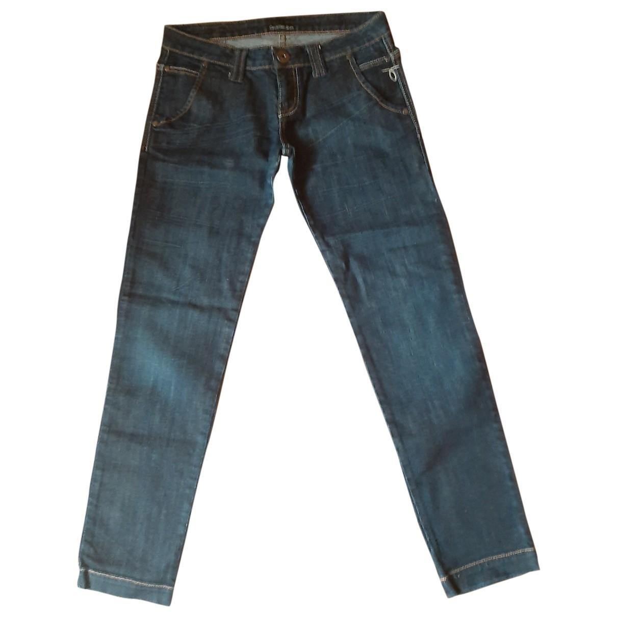Calvin Klein - Jean   pour femme en coton - bleu