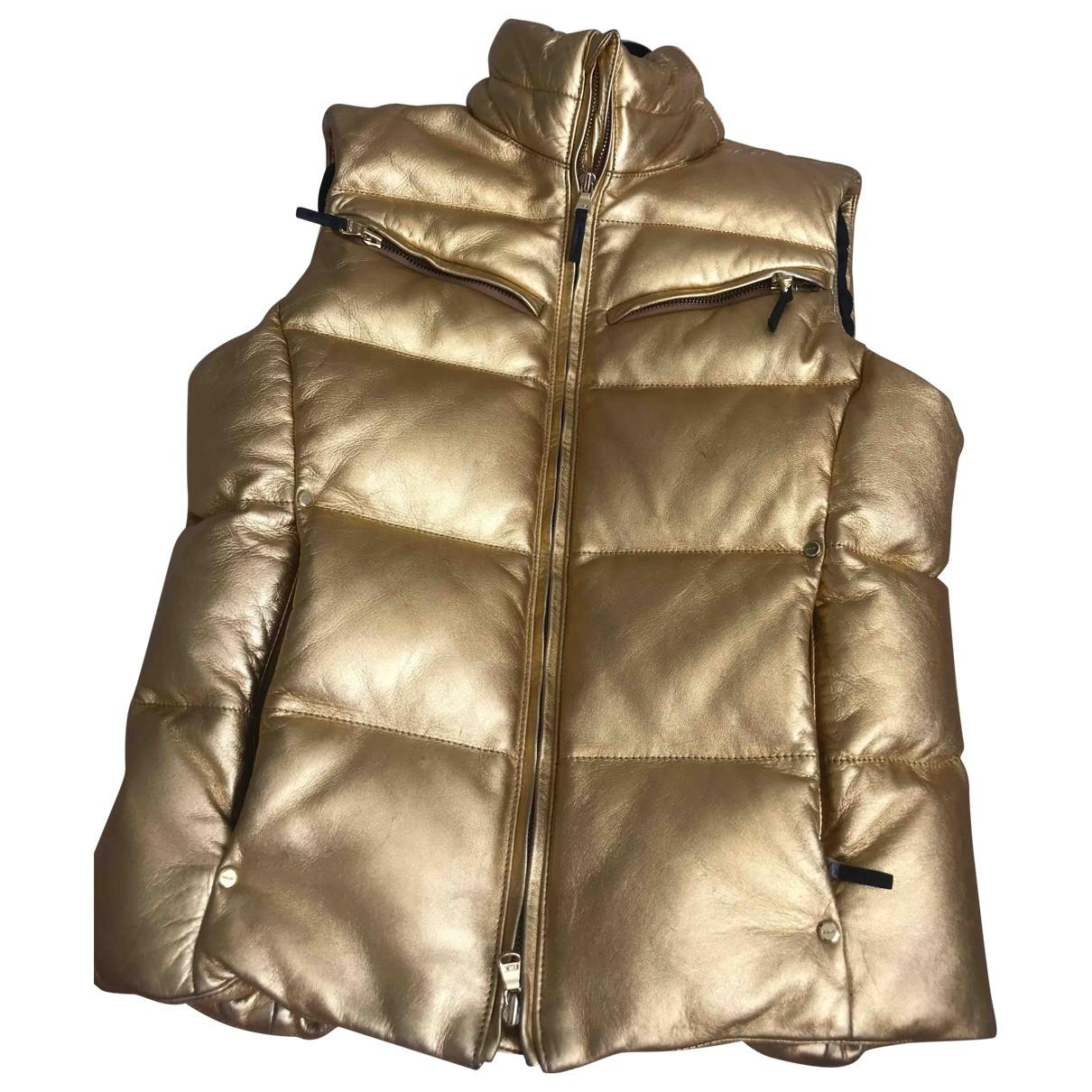 Ralph Lauren Collection - Veste   pour femme en cuir - dore