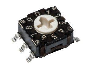 C & K , 10 Position, BCD Rotary Switch, 100 mA, Solder