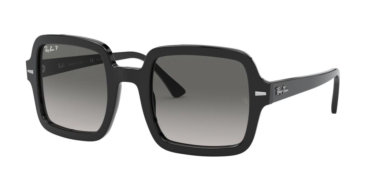 Ray-Ban RB2188 Polarized 901/M3 Women's Sunglasses Black Size 53