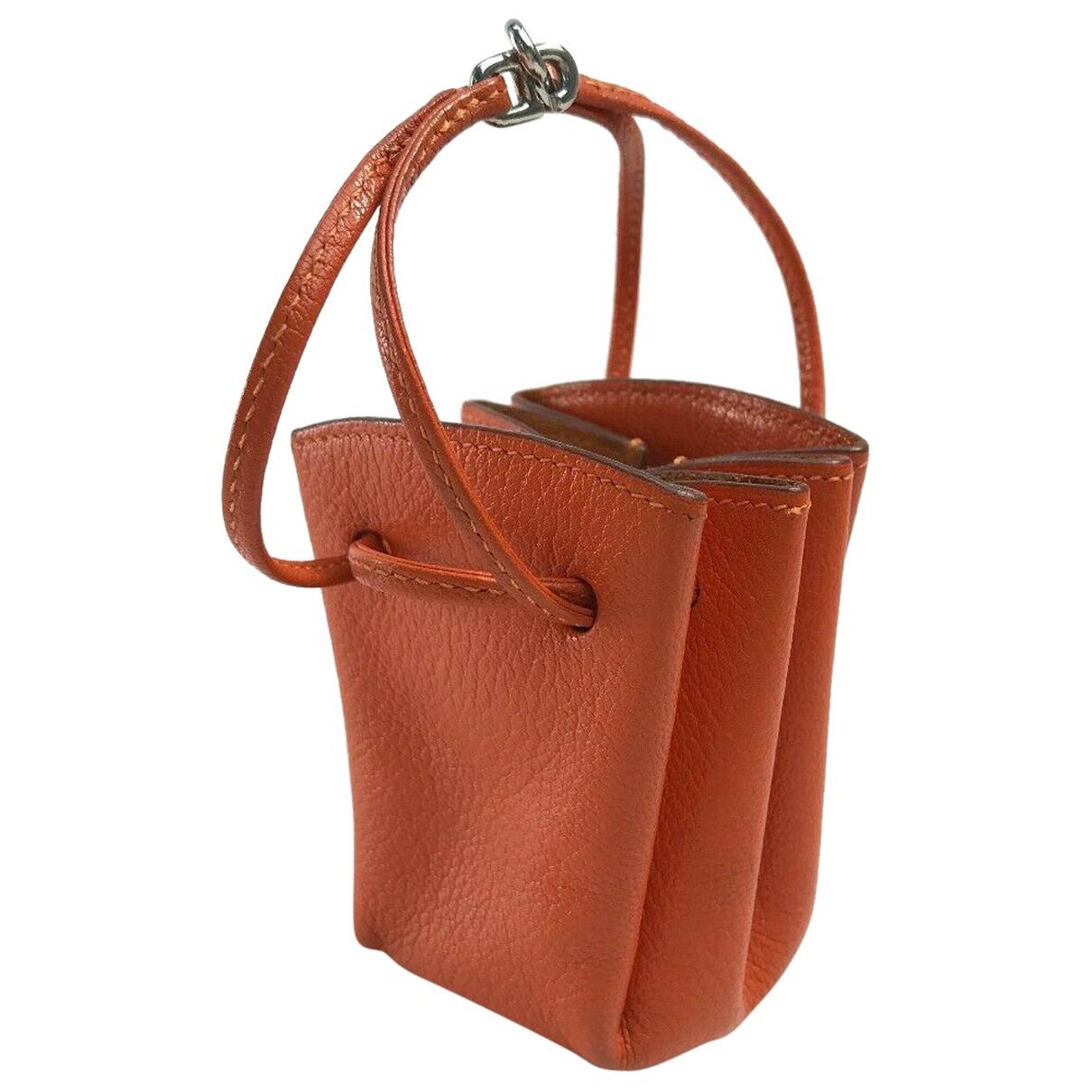 Hermes \N Kleinlederwaren in  Orange Leder