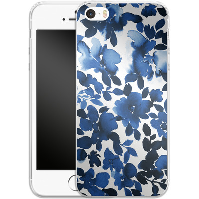 Apple iPhone 5s Silikon Handyhuelle - Sophia Blue Floral von Amy Sia