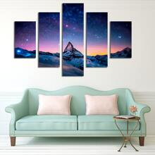 5pcs Landscape Print Wall Painting Without Frame
