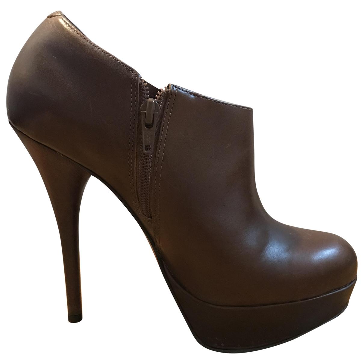 Kurt Geiger - Boots   pour femme en cuir - marron