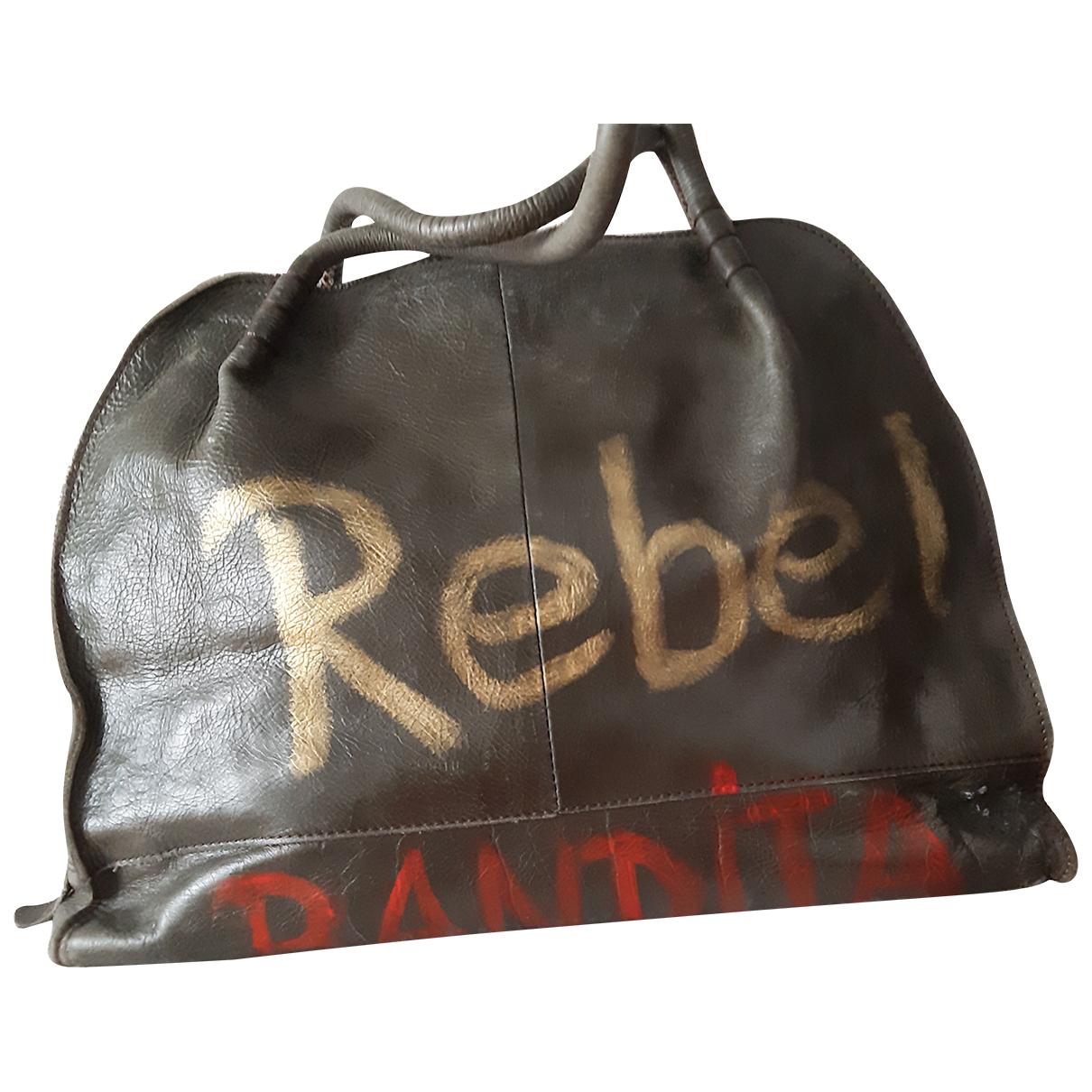 Autre Marque N Khaki Leather handbag for Women N