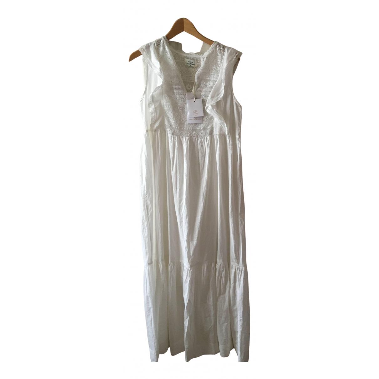 Stella Forest \N Kleid in  Weiss Baumwolle