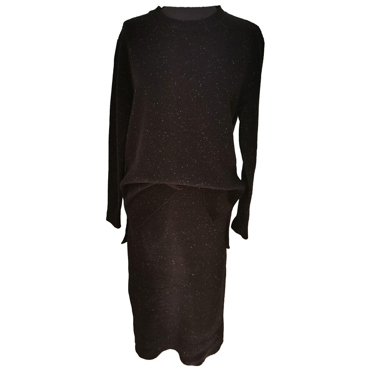 Sandro \N Navy Wool dress for Women 1 0-5