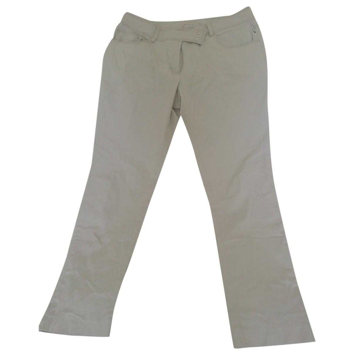 Moncler \N Grey Cotton Trousers for Women 46 IT