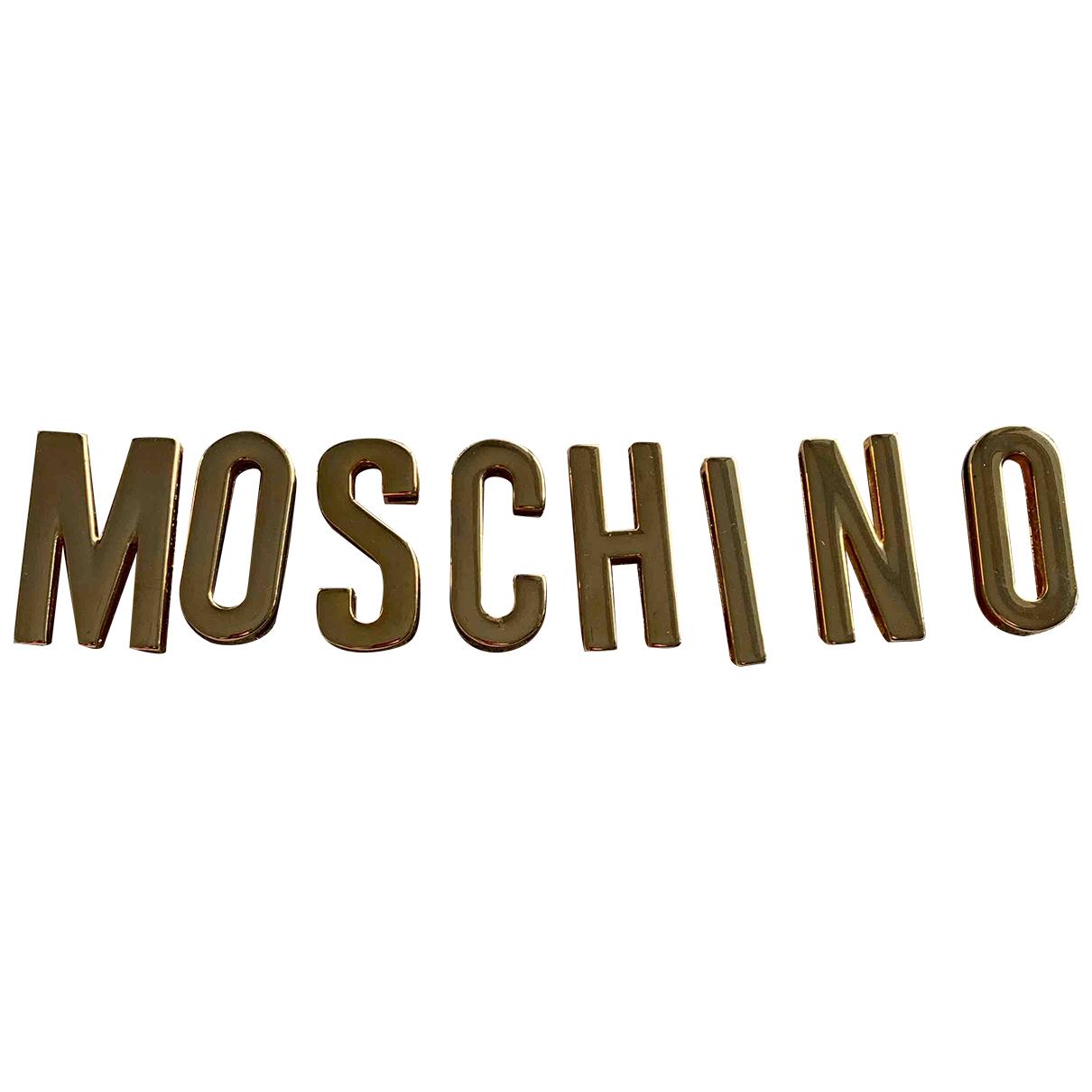 Moschino \N Guertel in  Gold Metall