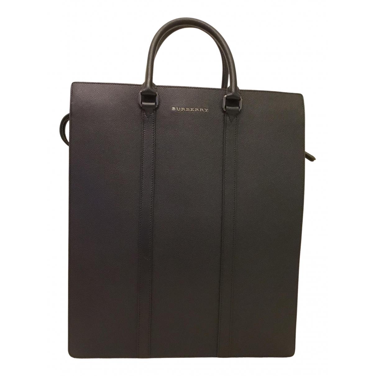 Burberry N Black Leather bag for Men N