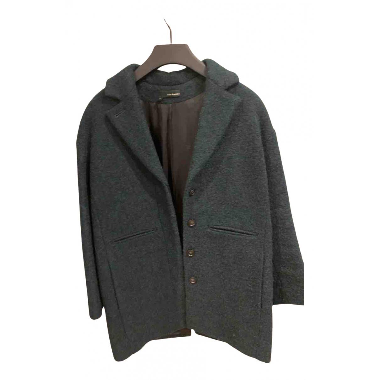 The Kooples - Manteau   pour femme en laine - turquoise
