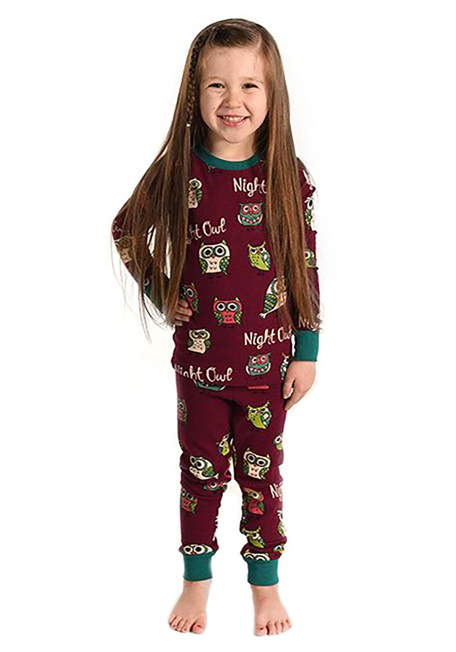 Night Owl Long Sleeve Kids Pajama Set