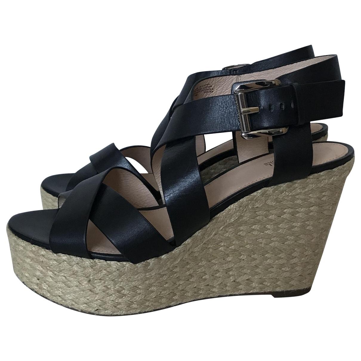 Michael Kors \N Black Leather Sandals for Women 40 EU