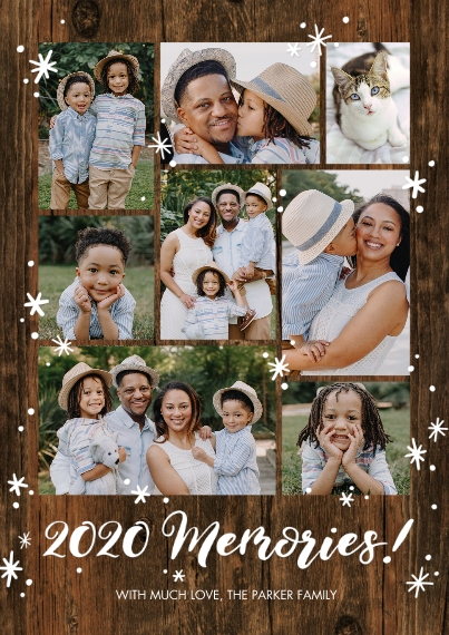 Christmas Photo Cards 5x7 Cards, Premium Cardstock 120lb with Rounded Corners, Card & Stationery -2020 Gold Memories by Tumbalina
