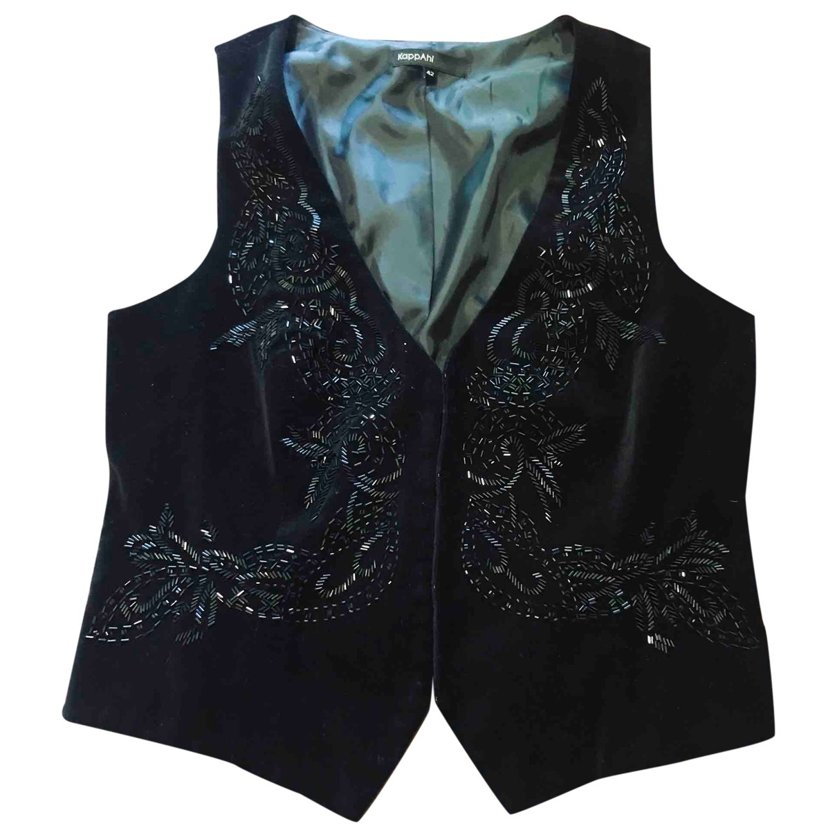 Non Signé / Unsigned \N Black Velvet jacket for Women 42 IT