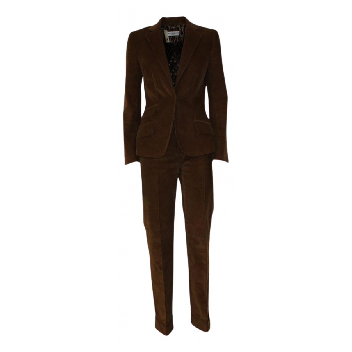 Dolce & Gabbana - Pantalon   pour femme en velours - marron