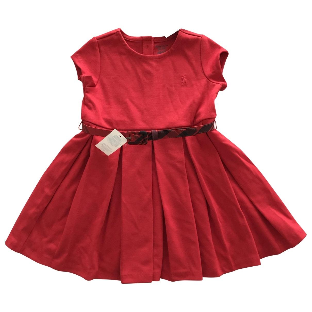 Ralph Lauren \N Red Cotton dress for Kids 12 months - up to 74cm FR