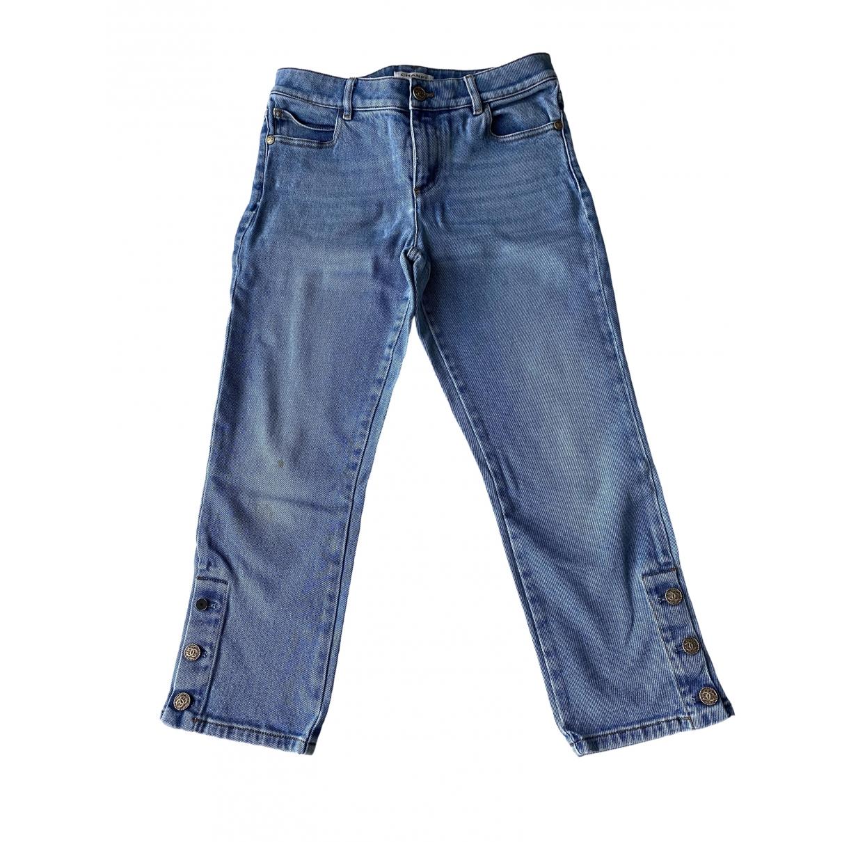 Chanel \N Blue Denim - Jeans Trousers for Women 40 FR