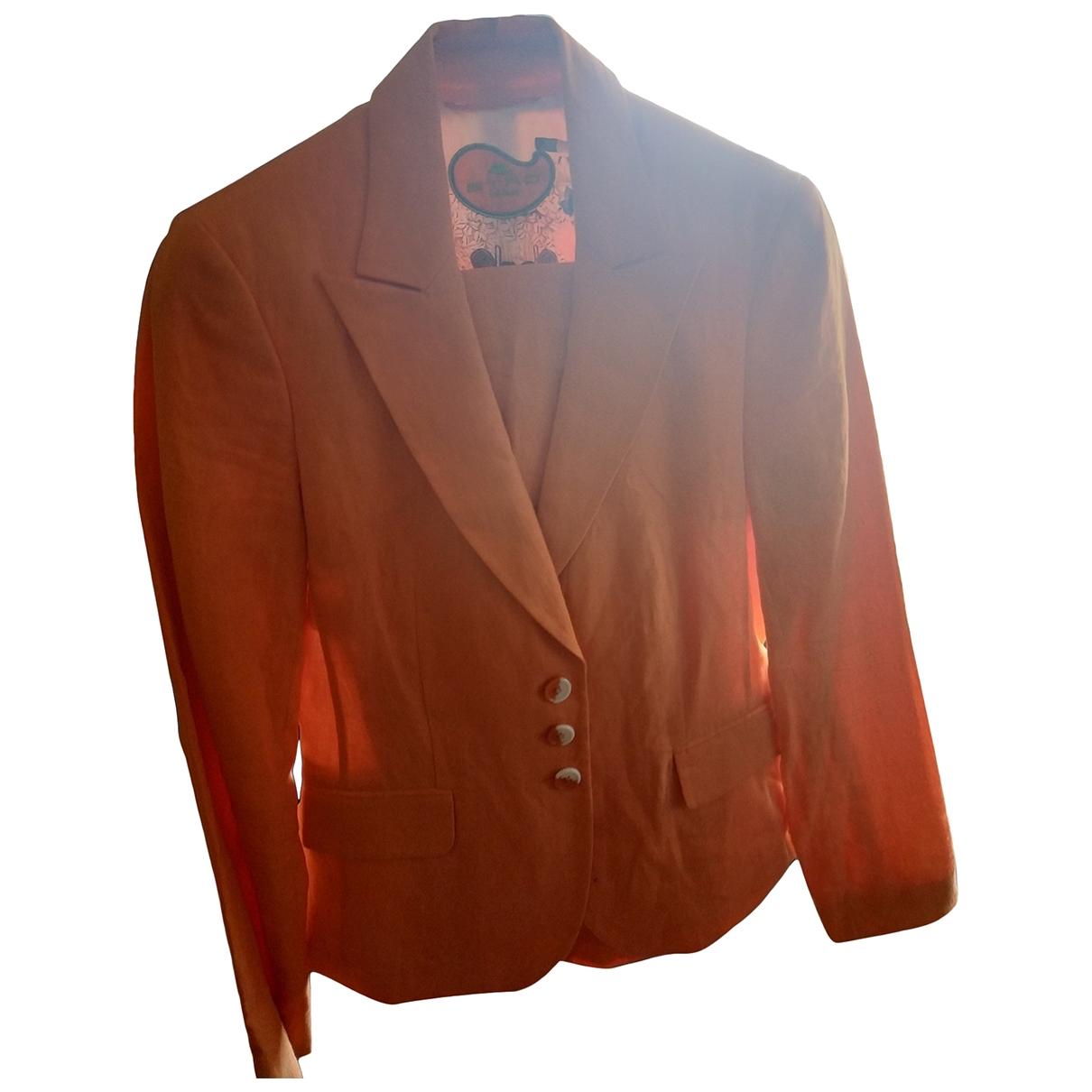 Etro \N Orange Linen jacket for Women 44 IT