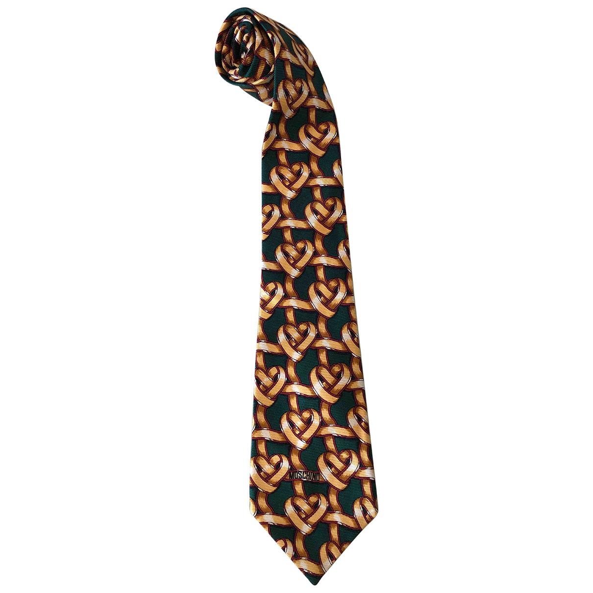 Moschino \N Krawatten in  Gruen Seide