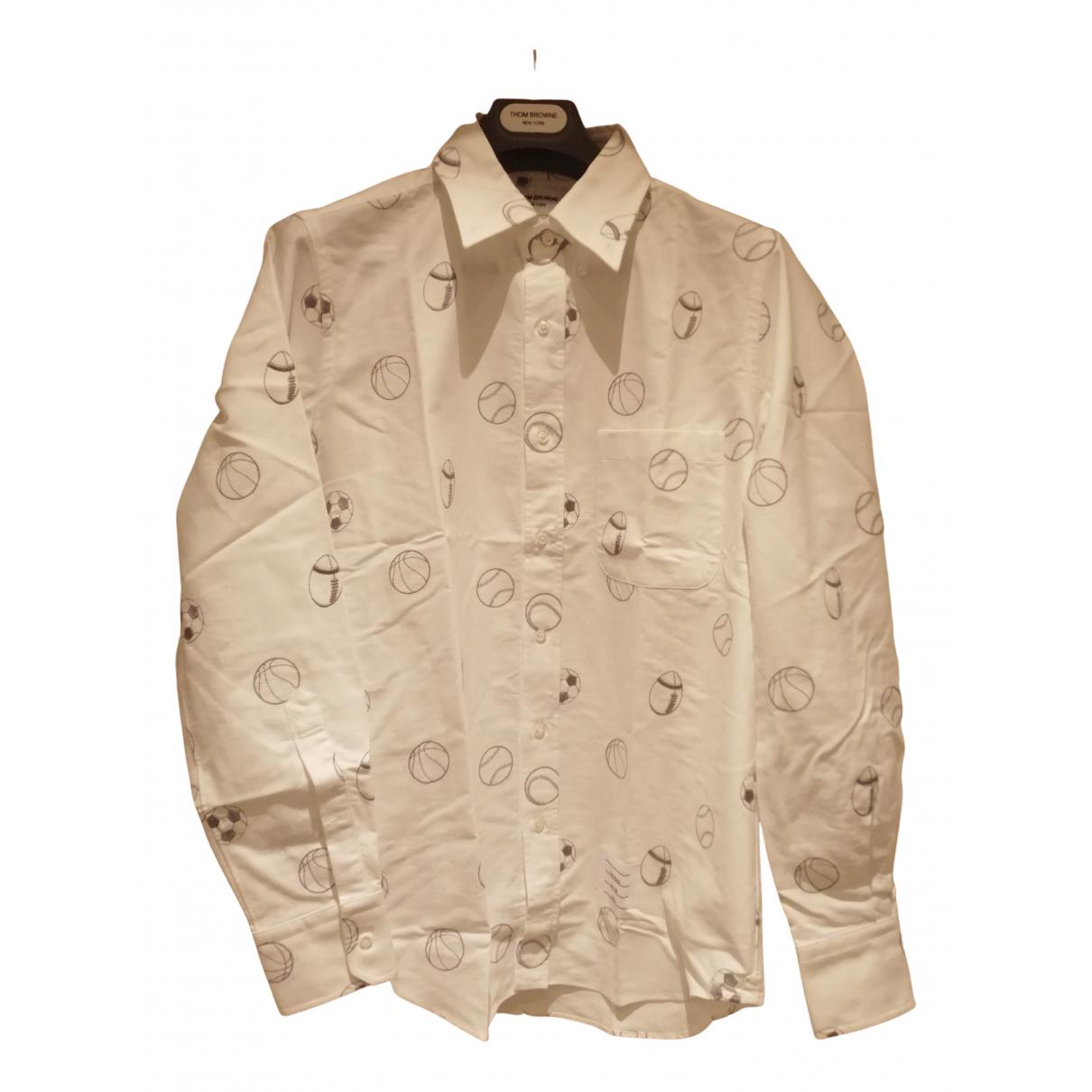 Thom Browne - Chemises   pour homme en coton - blanc