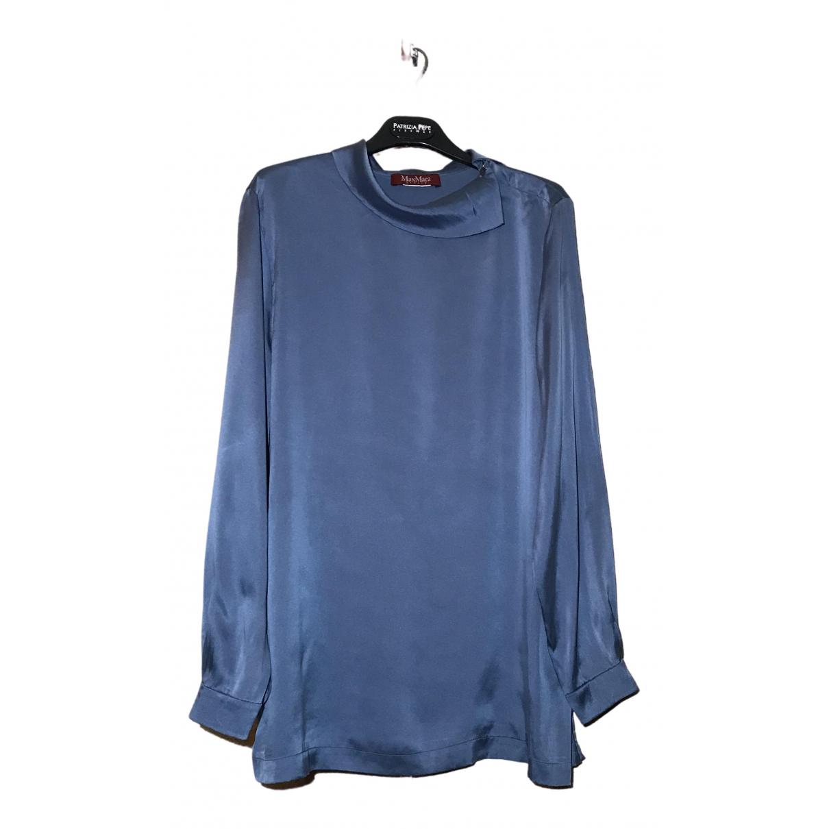 Max Mara Studio \N Blue Silk  top for Women 42 FR