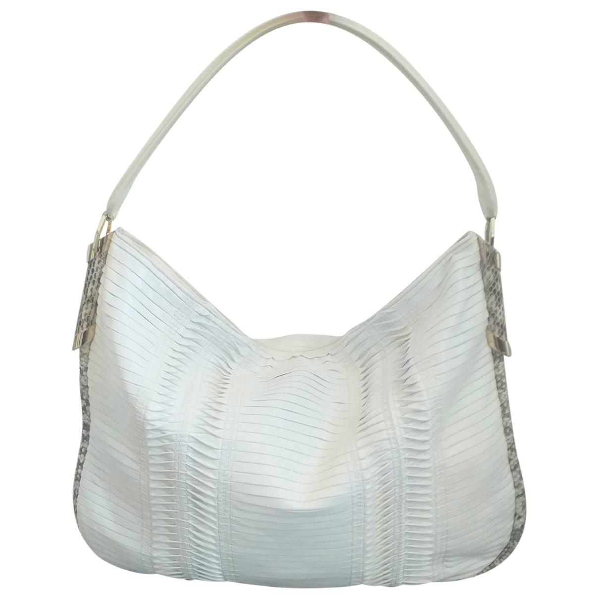 Jimmy Choo \N White Leather handbag for Women \N