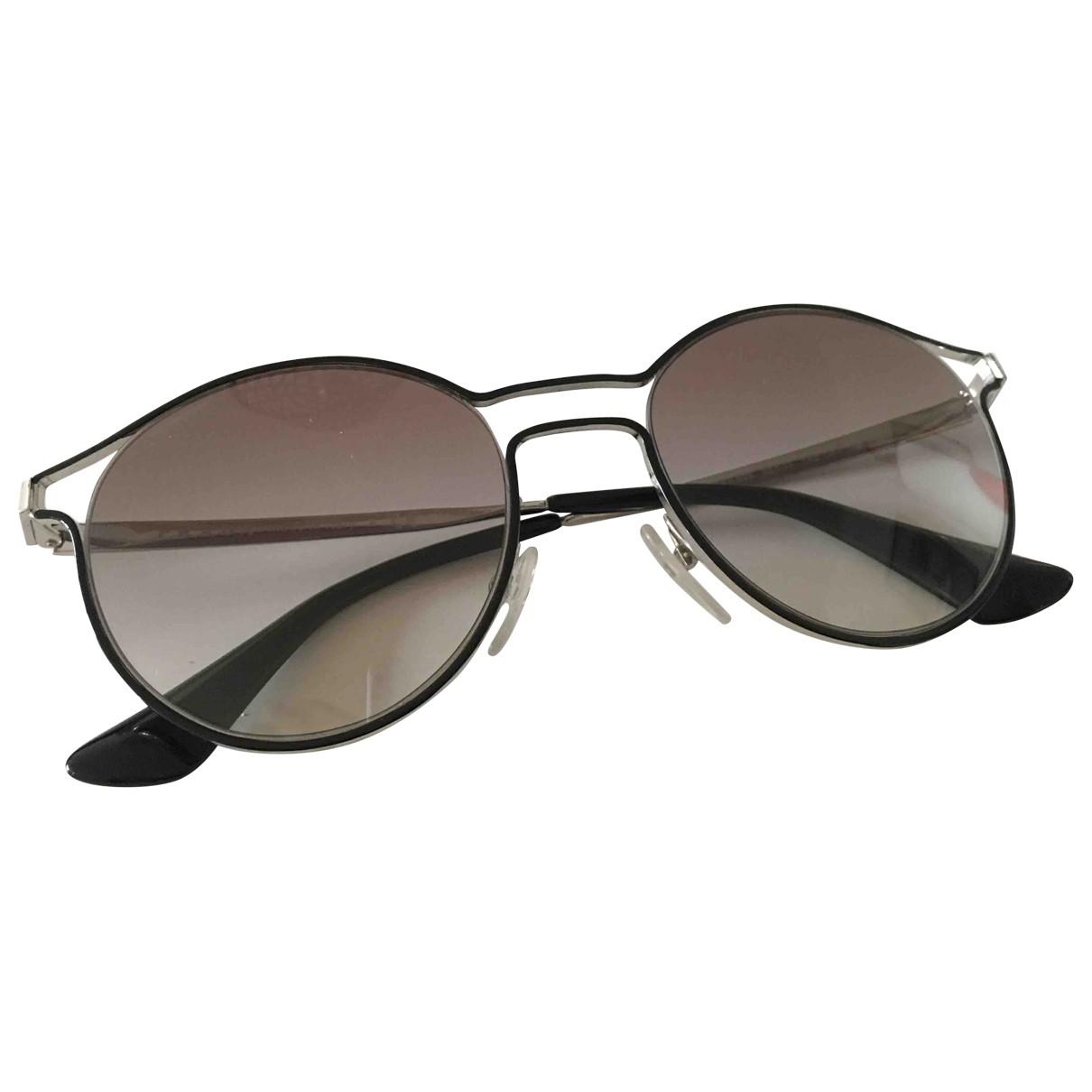 Prada \N Silver Metal Sunglasses for Men \N