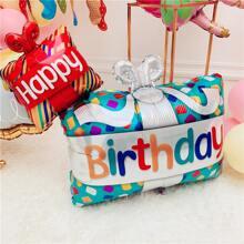 1pc Slogan Graphic Birthday Balloon