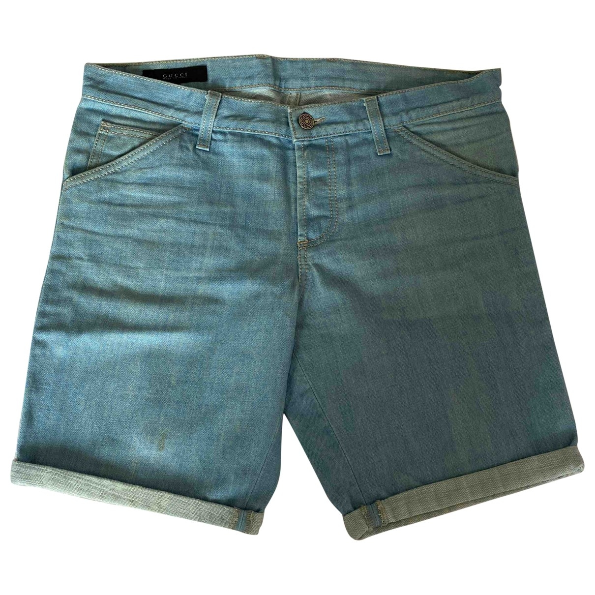 Gucci \N Shorts in  Blau Denim - Jeans