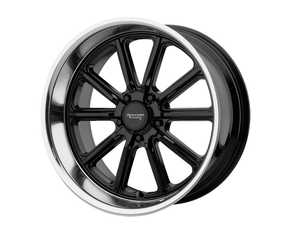 American Racing VN507 Rodder Wheel 18x8 5x5x127 +0mm Gloss Black Diamond Cut Lip