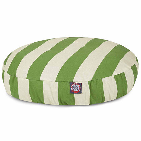 Majestic Pet Vertical Stripe Round Pet Bed, One Size , Green