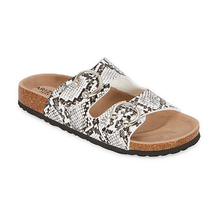 Arizona Frant Womens Adjustable Strap Footbed Sandals, 10 Medium, Black