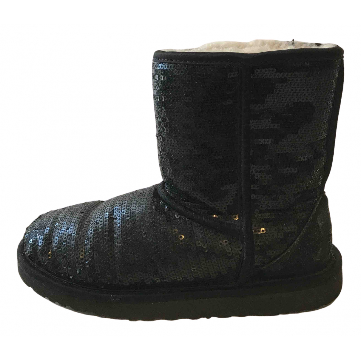 Ugg \N Black Glitter Boots for Women 35 EU