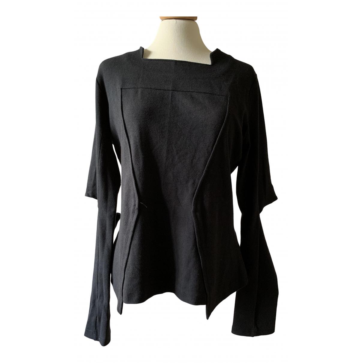 Maria Luisa - Top   pour femme en coton - noir