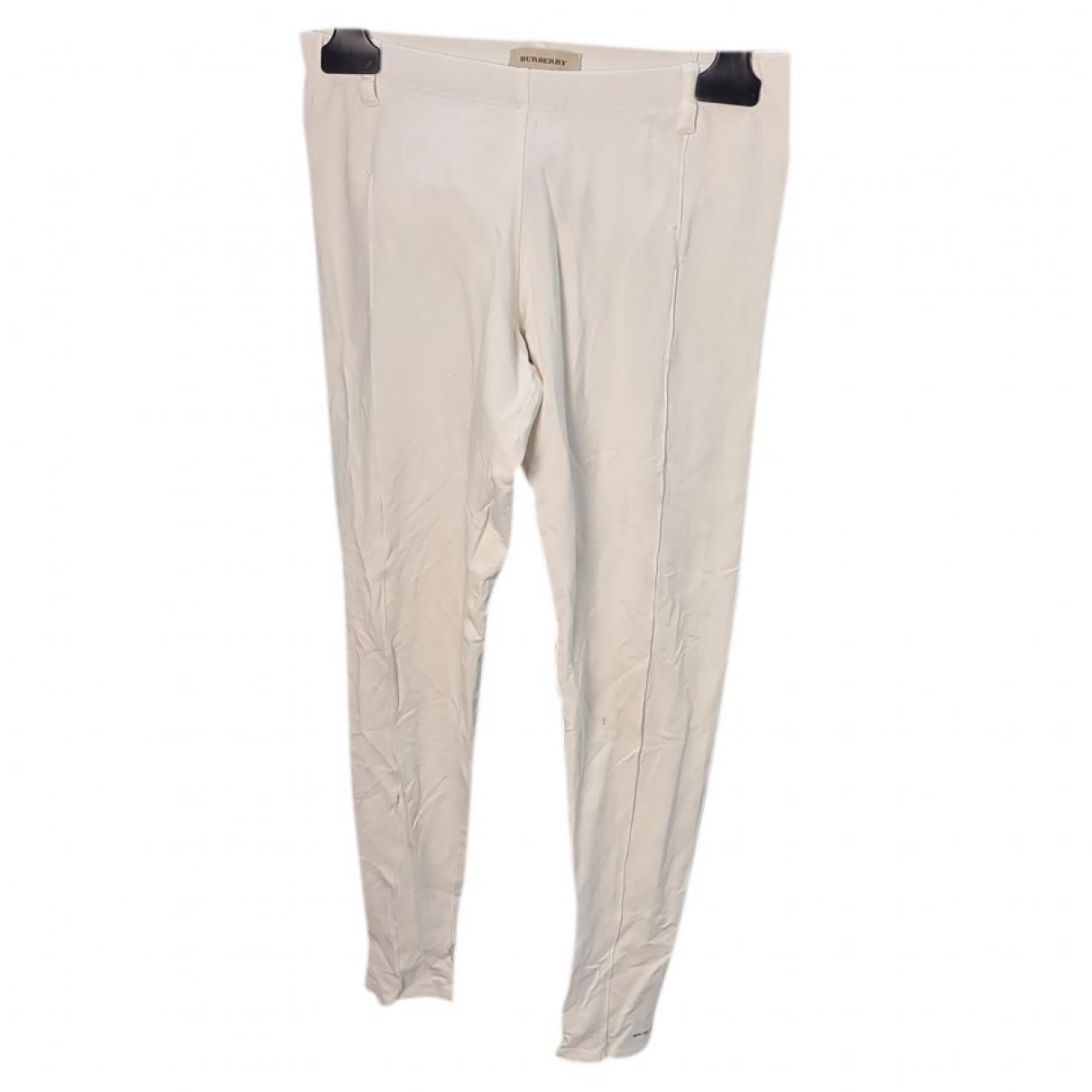 Burberry - Pantalon   pour enfant en coton - blanc