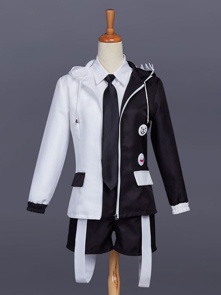 Milanoo Danganronpa Monokuma Cosplay Costume Boys Version Halloween