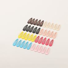 Toddler Girls Plain Snap Hair Clip 40pcs