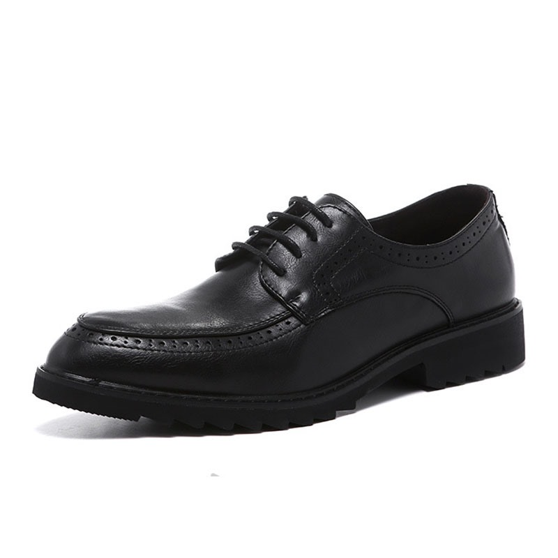 Ericdress Plain Lace-Up Round Toe Men's Oxfords