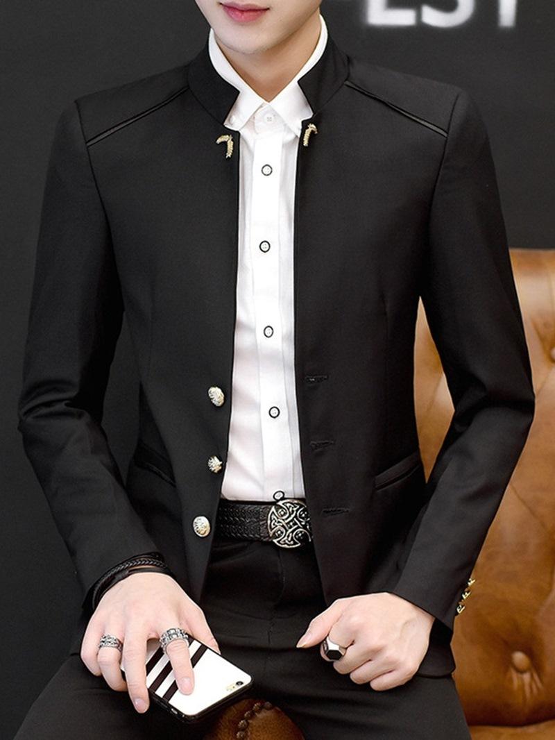 Ericdress Plain Stand Collar Fashion Men's Leisure Blazers