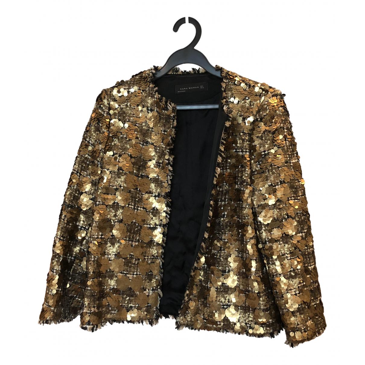 Zara - Veste   pour femme - dore