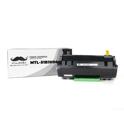 Lexmark 51B1H00 Compatible Black Toner Cartridge High Yield - Moustache®