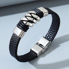Maenner Armband mit Edelstahl Dekor