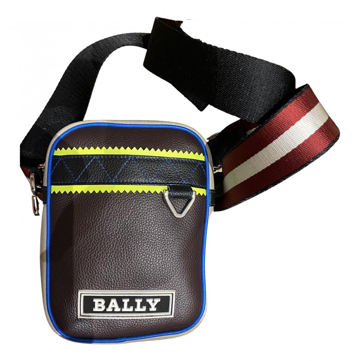 Bally N Burgundy Leather bag for Men N