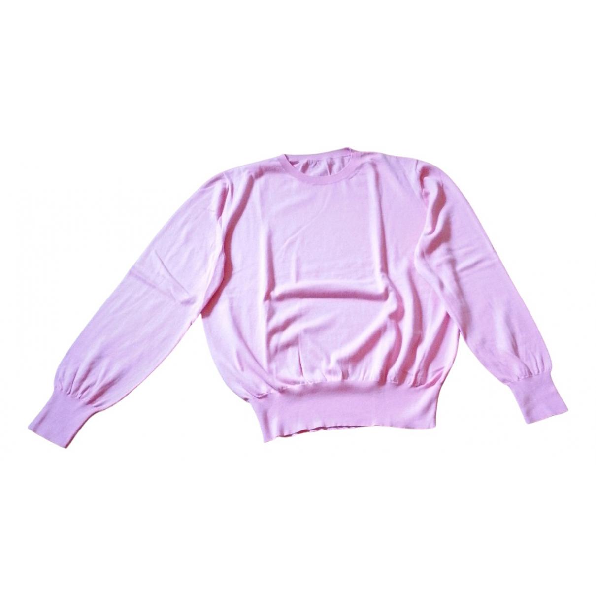 Christopher Kane - Pull   pour femme en coton - rose