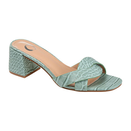 Journee Collection Womens Perette Slide Sandals, 9 Medium, Green