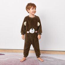 Monos para niño pequeño Bordado Dibujos animados Dulce