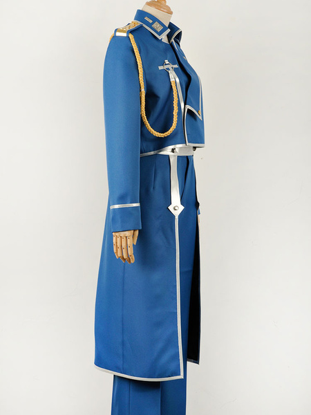 Milanoo Fullmetal Alchemist Roy Mustang Military Cosplay Costume
