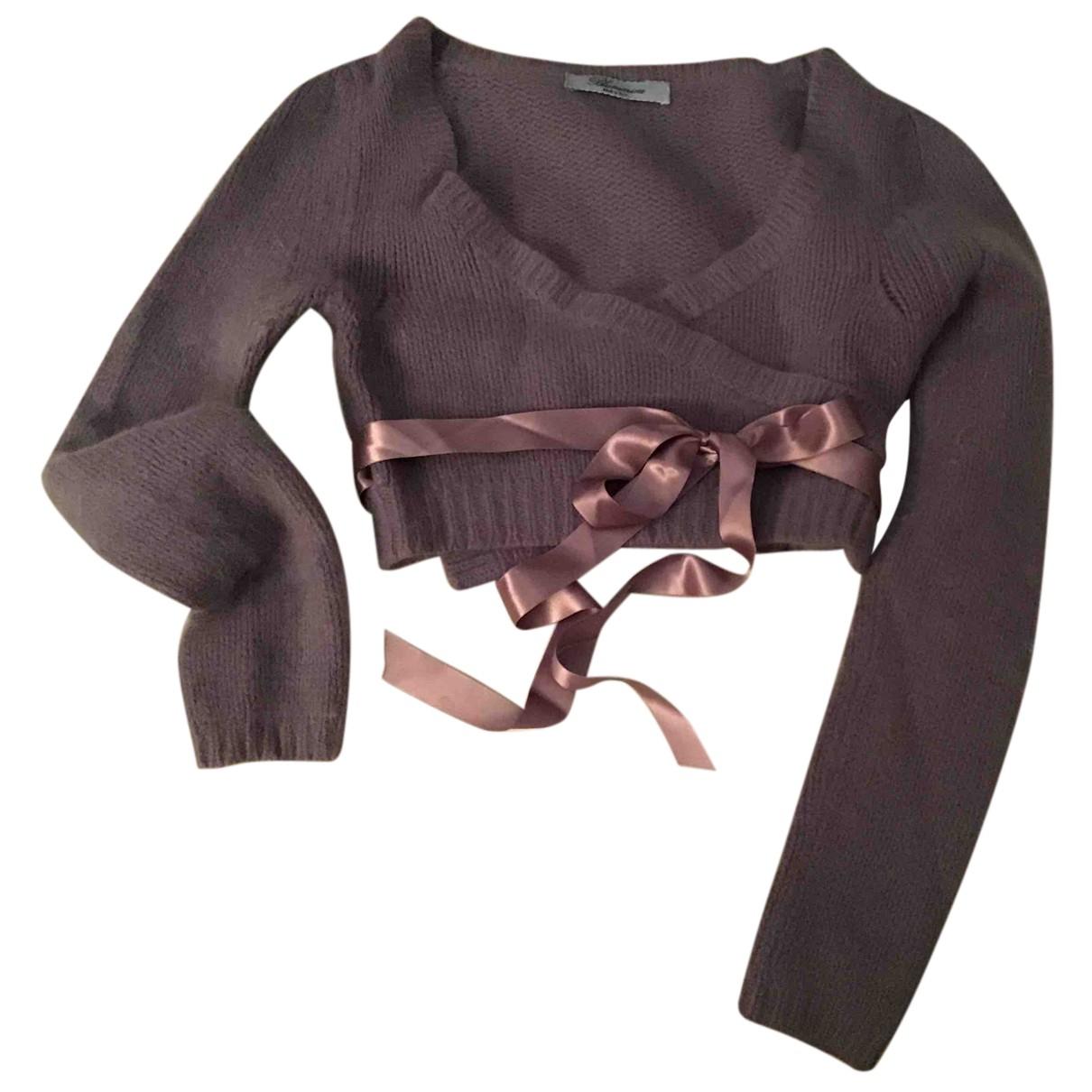 Blumarine - Pull   pour femme en laine - rose