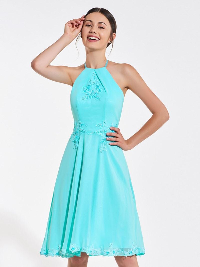 Ericdress Halter Backless Short A Line Bridesmaid Dress